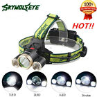 10000LM CREE 3-XML T6 LED Headlamp Headlight 18650 flashlight head light lamp