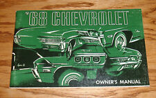 1968 Chevrolet Full Size Car Owners Operators Manual 68 Chevy Impala Caprice