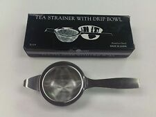 TEA STRAINER WITH BOWL DRIP BOWL STAINLESS STEEL INFUSER MESH SCREEN SINGLE