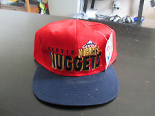 NEW VINTAGE Denver Nuggets AJD Snap Back Hat Cap Black Red Basketball NBA