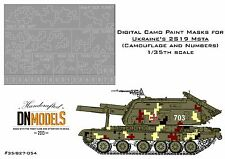 Digital Paint Masks for Ukrainian 2S19 Msta 1/35 Camo & Numbers 2016 Parade Camo