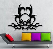 Wall Stickers Vinyl Decal Tattoo Gothic Skull Death Room Decor (ig685)