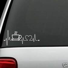 K1005 Coffee Cup Heartbeat© Monitor Decal Kitchen Brew Station Cafe Bistro