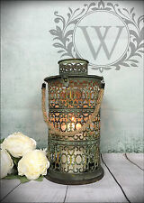 New Large Vintage Lantern Holder Candle Garden Home Antique Tea Light Lamp