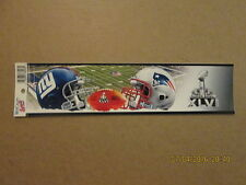 NFL Giants Patriots SUPER BOWL XLVI Logo Bumper Sticker