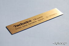 TECHNICS SL-1200 MK2 Turntable Name Plate / Graphics / Logo / Decal [GOLD] x 2
