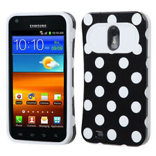 US Cellular Samsung Galaxy S II 2 TPU Candy HYBRID GLOW Case Cover Black Dots