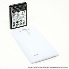6800mAh Extended Battery for LG G3 D830 D851 White Cover