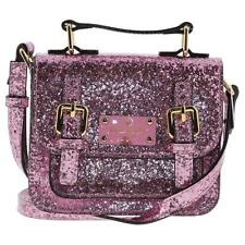 Kate Spade 8754 Womens Pink Patent Glitter Evening Handbag Purse Small BHFO