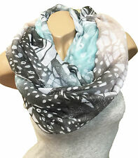 FLOWER PAISLEY LOOP DESIGN ABSTRACT GRADIENT SCARF CIRCLE WITH CHOICE