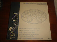 Brand New Pampered Chef Silicone Bakeware Floral Cupcake Pan Disco Item #1613