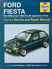 Ford Fiesta (Petrol) 1989-95 Service and Repair Manual, Haynes Manuals