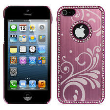 Bling Diamo Crystal Plastic Aluminum Decoration Case Cover Skin for iPhone 5 5s