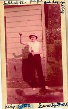 Antique Vintage Photograph Girl With Bullhead Fish Swartz Grove 1958