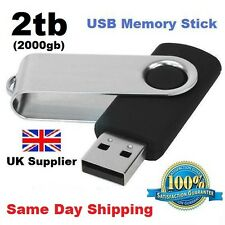 2TB - 2000GB SWIVEL USB 2.0 FLASH DRIVE MEMORY STICK