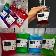5PCS Reusable Blood Energy Drink Bag Halloween Pouch Props Cosplay Vampire 300ML