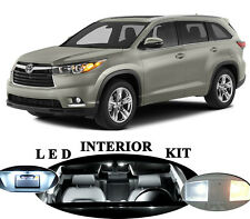 LED Package - Interior + License Plate + Vanity for Toyota Higlander (15 pieces)