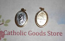 Saint. Christopher  - Silver-Gold tone Italian 1 inch Medal