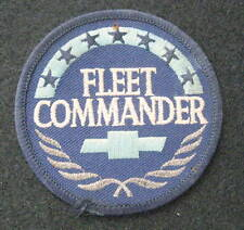 FLEET COMMANDER CHEVROLET EMBROIDERED PATCH CHEVY BOW TIE UNIFORM 2 7/8""