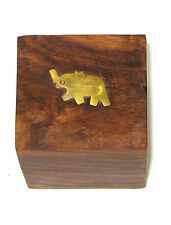 Small Wooden Elephant Jewellery Box - Earring Boxes For Women - Gifts For Her