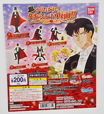 Sailor Moon Tuxedo Mask Gashapon Complete 5pcs  - Bandai   h#0417