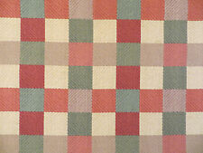 Paon Plaid decorator fabric by Robert Allen printed in warm fall colors