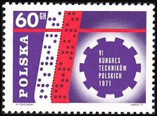 Poland 1971 Sc1831Mi2101 0.20 MiEu 1v mnh 6th Congress of Polish Technicians