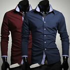 On Sale Stylish Men Casual Button Down Shirts Long Sleeve Luxury Dress Shirts