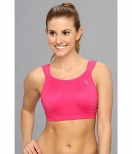 WOMENS MOVING COMFORT MAIA SPORTS RUNNING ADJUSTABLE BRA PINK SIZE 32 C NEW! $58