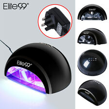 12W Elite99 LED Nail Lamp UV Gel Polish Curing Dryer Light Manicure with Timers