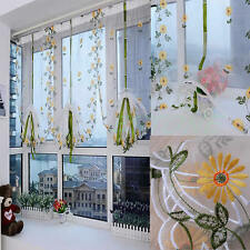 Shade Sheer Window Hand Embroidered Floral  Shutter Door Room Decoration Curtain