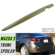 MAZDA 3 3RD 4D SEDAN OE REAR TRUNK SPOILER 2015 ABS NEW UNPAINTED