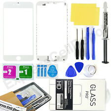 for White Apple iPhone 6S Plus Front Outer Screen Glass Lens Replacement kit