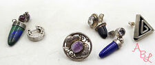 Sterling Silver Vintage 925 Mixed Single Mismatched Earrings Lot (25.8g) 553554