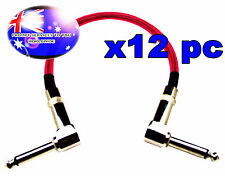 "From OZ Quality 12PC 12"" Guitar Patch Lead Wire Cable Right Angle Ends Pink +F.P"