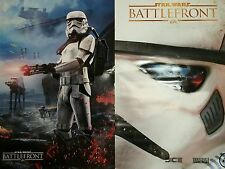 Video Game Poster of STAR WARS BATTLE FRONT both sides feature images 2 sided