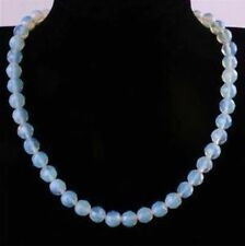 "12mm Round Faceted Sri Lanka Moonstone Gemstone Necklace 18""AAA"