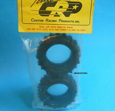 "CRP 4233 Rear Tires 1.9 - 2.0"" Pin Spike Tamiya Kyosho Yokomo Vintage RC Part"