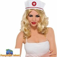 SEXY CROSS NURSE HAT HALLOWEEN - womens ladies fancy dress costume accessory