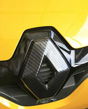 Renault Megane 3, facelift 2013+ CARBON FIBRE EFFECT FRONT & REAR BADGE COVERS