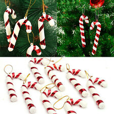 12 Xmas Tree Candy Cane Hanging Ornament Decoration Christmas Home Party Decor
