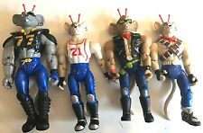 1993 Galoob BTF Lot of 4 Biker Mice From Mars Modo Action Figure Toys 5 1/2 - 6""