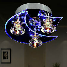 220V Moon Star Crystal LED Ceiling Blue Light Superior Lamp Lighting Chandelier