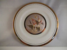 Lovely Himark Giftware Art of Chokin Butterly Calla Lily Plate Japan