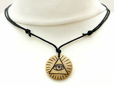 The All-Seeing Eye Necklace Eye of Providence Illuminati Symbol Evil Eye Pendant