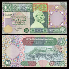 Libya Lybien 10 Dinars, 2002, P-66, UNC
