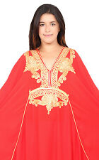 Plus size caftan Women Kaftan Caftans Muslim Long Dress Casual Abaya Red Robe