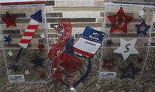 Headband USA Red White Blue Window Gel Clings 4th of July Decor Celebrate Summer