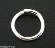 600 PCs Silver Plated Open Jump Rings 6x0.9mm Findings