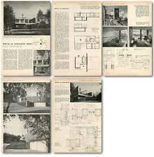 1957 House In The Grounds Of Newstead Abbey For Mr Cooper Design, Plans